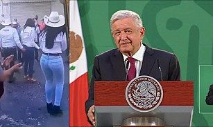"""No es prudente opinar"", dice AMLO sobre video de aparente agresión de David Monreal"
